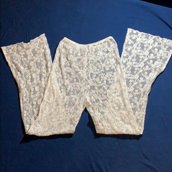 Floral Lace Cover Up Swim Pants